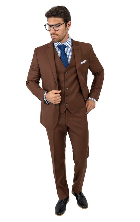 BRION COPPER TAILORED FIT 3 PC SUIT