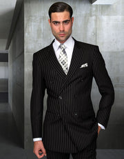 HARDY BLACK DOUBLE BREASTED REGULAR FIT 2 PC SUIT