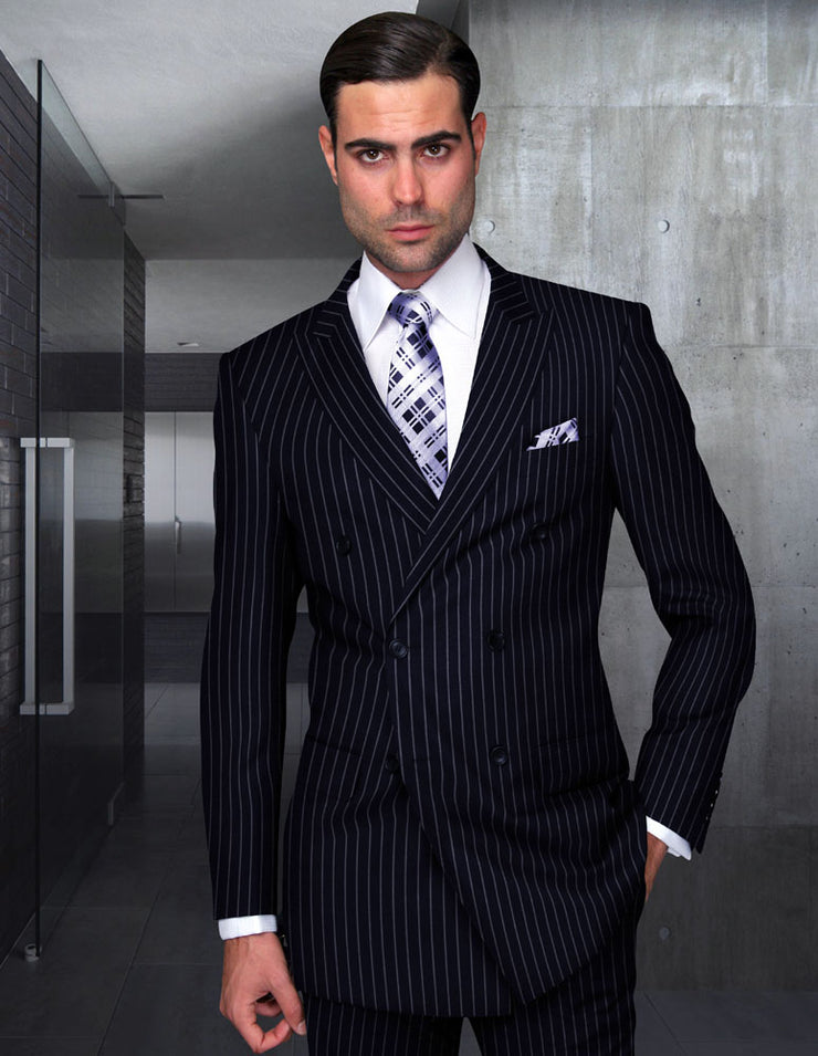 LEWIS NAVY DOUBLE BREASTED REGULAR FIT 2 PC SUIT