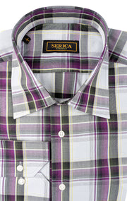 BAILEY PURPLE PLAID SPORT SHIRT