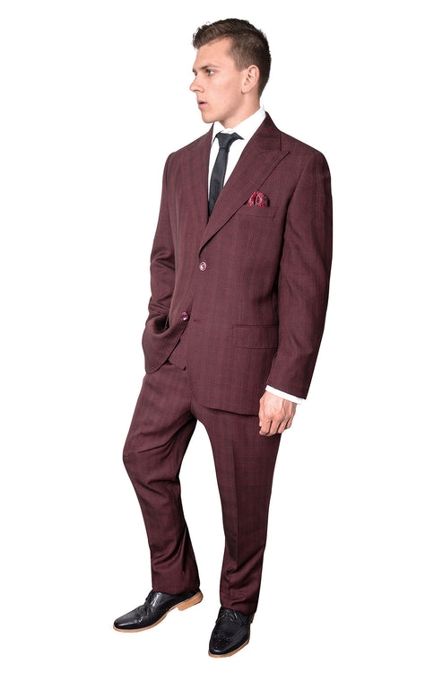 ROSSI MAN BURGUNDY MODERN FIT SUIT