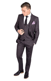 ROSSI MAN BROWN SLIM FIT SUIT