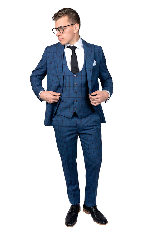 ROSSI MAN BLUE SLIM FIT SUIT