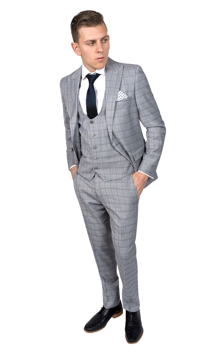 ROSSI MAN GREY SLIM FIT SUIT