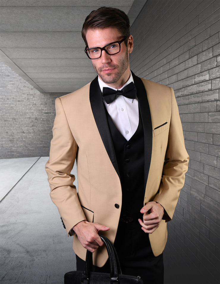 DERRICK CHAMPAGNE TAILORED FIT TUXEDO