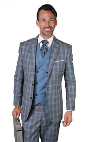 BURTON GREY TAILORED FIT 3 PC SUIT