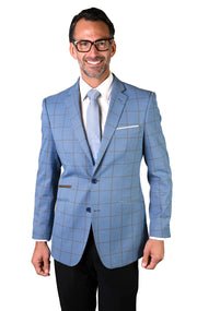 FABIAN BLUE TAILORED FIT JACKET