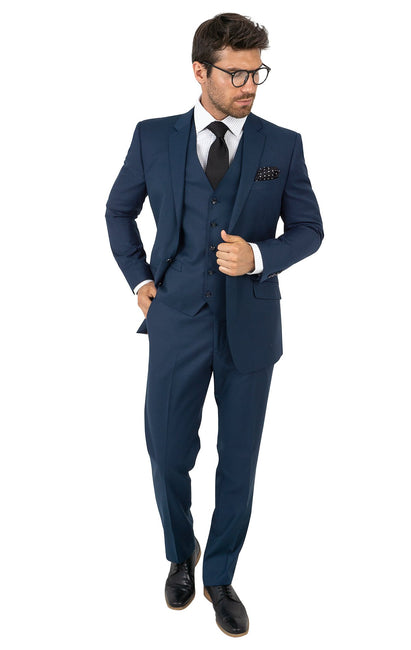 FREEMAN INDIGO TAILORED FIT 3 PC SUIT