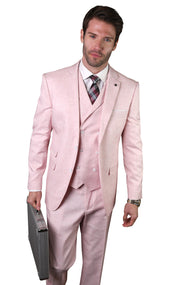 CLAUDE PINK TAILORED FIT 3 PC SUIT