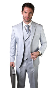 CALVIN POWDER TAILORED FIT 3 PC SUIT