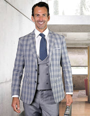 DIXON GREY SLIM FIT 3 PC SUIT