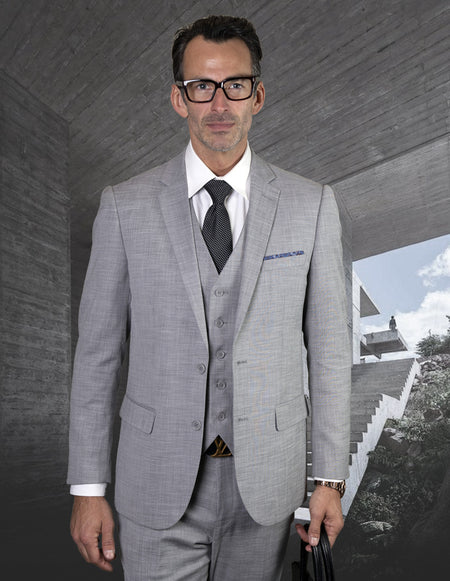 SLADE GREY SLIM FIT 3 PC SUIT