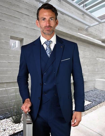 DUGAN SAPPHIRE TAILORED FIT 3 PC SUIT