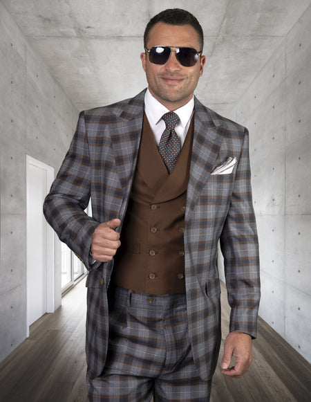 MARTY COPPER REGULAR FIT 3 PC SUIT