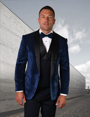 NORRIS NAVY VELVET TAILORED FIT TUXEDO