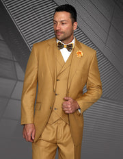 THATCHER CAMEL TRADITIONAL FIT 3 PC SUIT