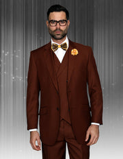 MILLAR COPPER TRADITIONAL FIT 3 PC SUIT