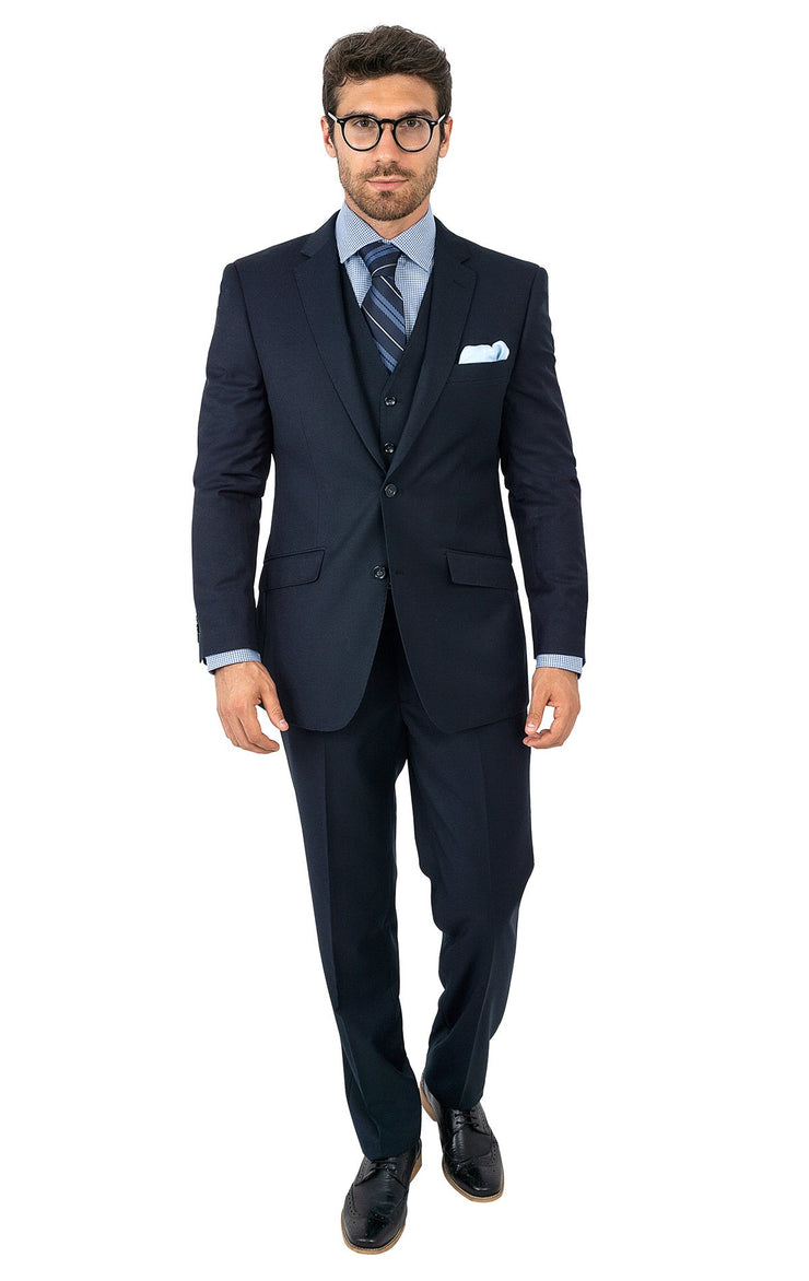 BATSON NAVY TAILORED FIT 3 PC SUIT
