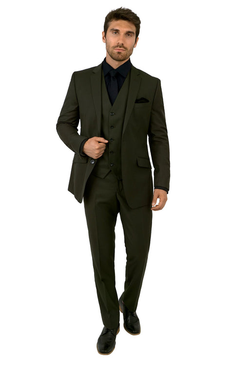HAYDEN OLIVE TAILORED FIT 3 PC SUIT