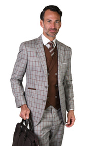 CLEMENT COPPER TAILORED FIT 3 PC SUIT