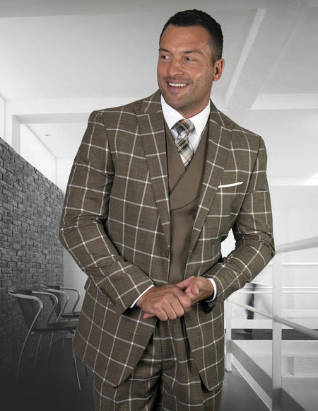 WARREN BRONZE REGULAR FIT 3 PC SUIT