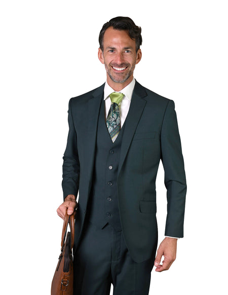 QUENTIN JADE TAILORED FIT 3 PC SUIT