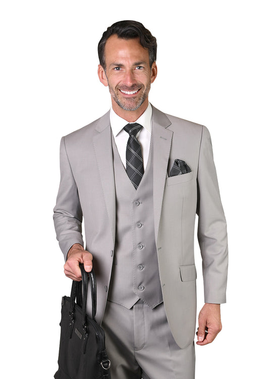 JACE PLATINUM TAILORED FIT 3 PC SUIT