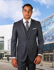LANE CHARCOAL TAILORED FIT 3 PC SUIT