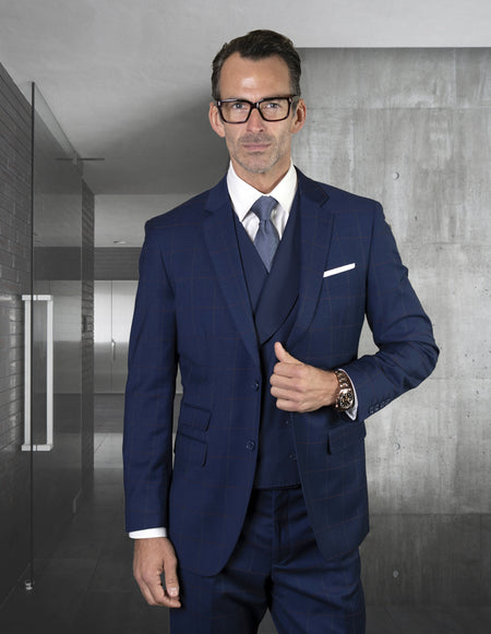 BRAN SAPPHIRE TAILORED FIT 3 PC SUIT