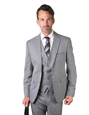 RAMOS GREY SLIM FIT 3 PC SUIT