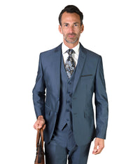 CASPER BLUE SLIM FIT 3 PC SUIT