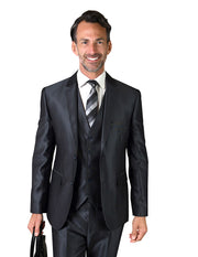 EDGAR NAVY SLIM FIT 3 PC SUIT