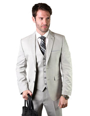 TREVOR SAND SLIM FIT 3 PC SUIT