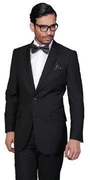 EVANS BLACK SLIM FIT SUIT