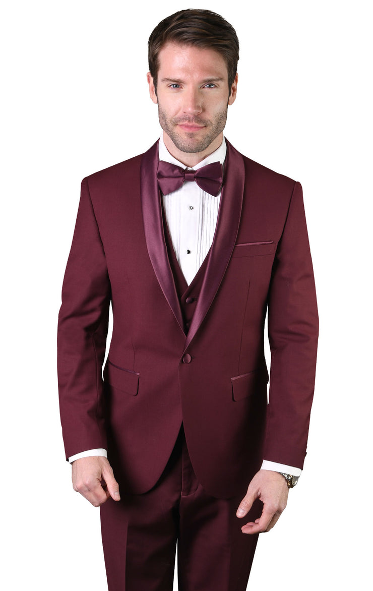 KENDRICK BURGUNDY TAILORED FIT TUXEDO