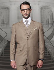 BIG & TALL BRONZE REGULAR FIT 3 PC SUIT