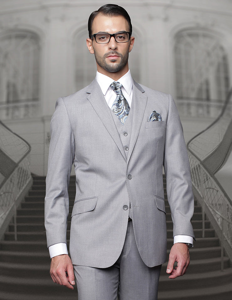 BIG & TALL GRAY REGULAR FIT 3 PC SUIT
