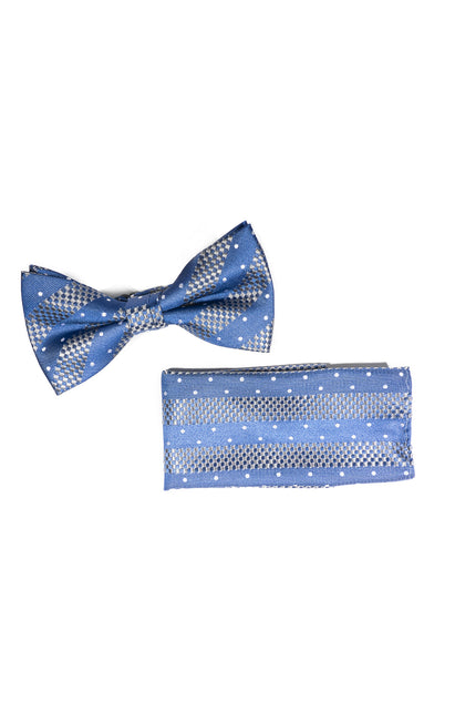 FELIX BLUE DOT BOWTIE & POCKET SQUARE