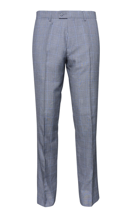 JOHN BLUE WINDOW PANE SLIM FIT PANT