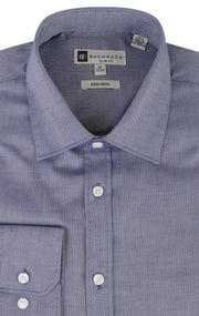 OXFORD SLIM FIT NON IRON NAVY BUTTON CUFF DRESS SHIRT