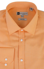 OXFORD SLIM FIT NON IRON TANGERINE BUTTON CUFF DRESS SHIRT