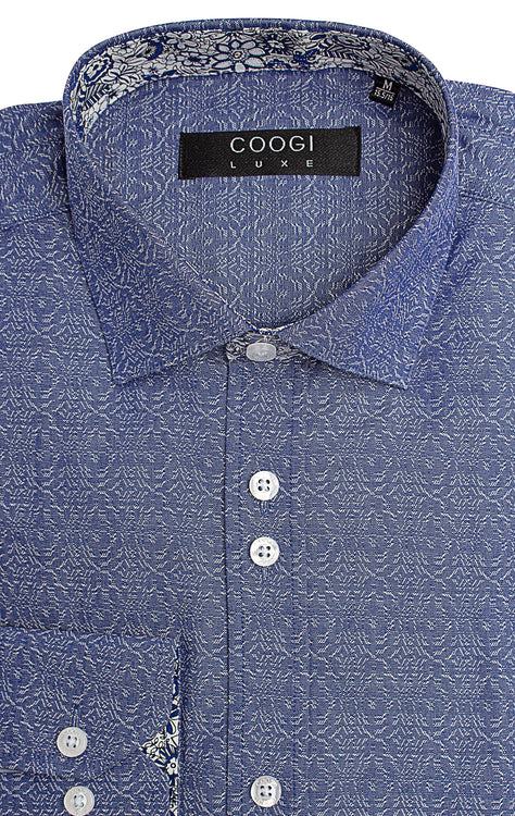 LENON BLUE LONG SLEEVE WOVEN
