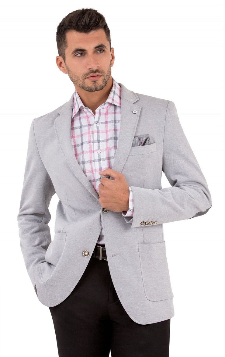 ARUBA GREY MODERN FIT BLAZER