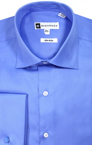 NON IRON FRENCH BLUE FRENCH CUFF DRESS SHIRT