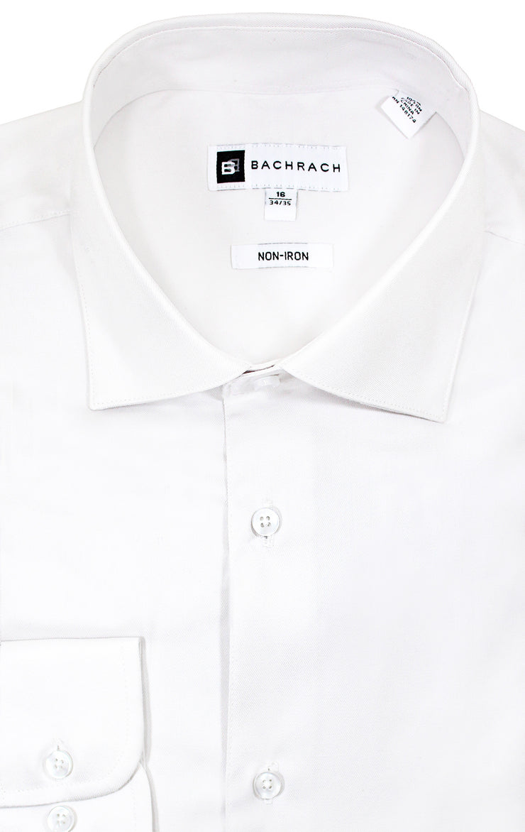 NON IRON WHITE BUTTON CUFF DRESS SHIRT