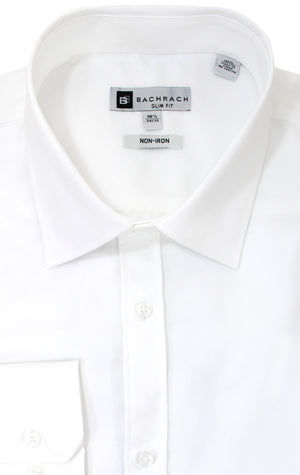 SLIM FIT NON IRON WHITE BUTTON CUFF DRESS SHIRT