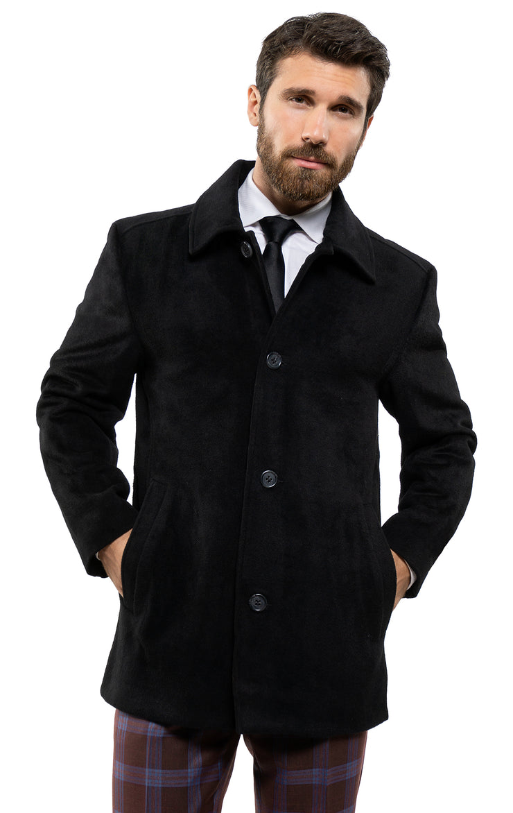 RICHARDSON BLACK PEACOAT