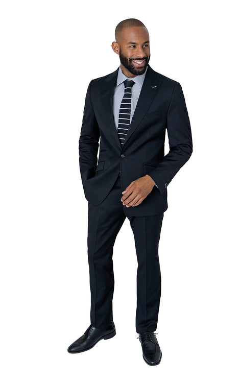 RODEO BLACK SLIM FIT SUIT