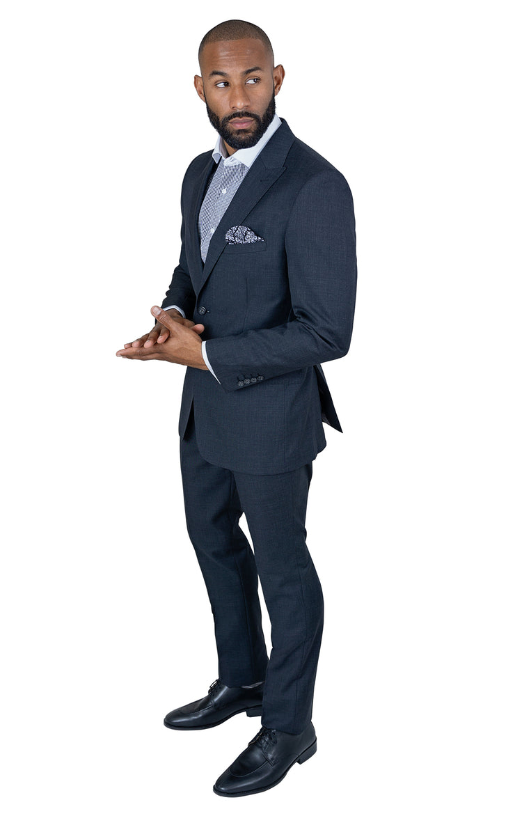 BEVERLY CHARCOAL SLIM FIT SUIT