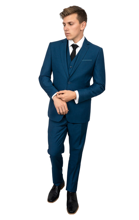 PORTER BLUE SUPER SLIM FIT 3 PC SUIT